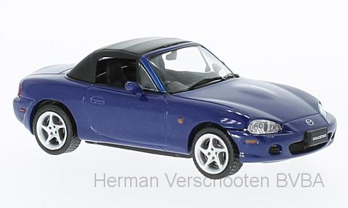 F43-008    Mazda MX-5 Roadster 2001, met. blauw, First 1:43 Models