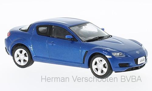 F43-030  Mazda RX-8 2003, met. blauw, First 1:43 Models