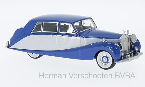 47140  Rolls-Royce Silver Wraith Empress Limousine by Hooper, blauw/grijs, Neoscale Models