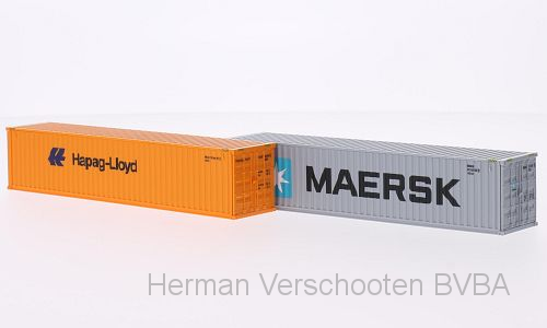 "01813    40' Containers ""Maersk & Hapag Lloyd"", Wiking"