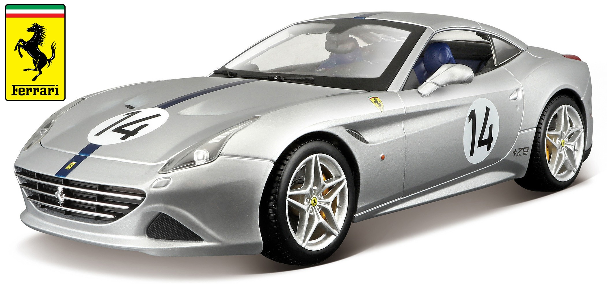 "18-76103  Ferrari California T, zilver, ""70th Anniversary Ferrari"", Bburago"