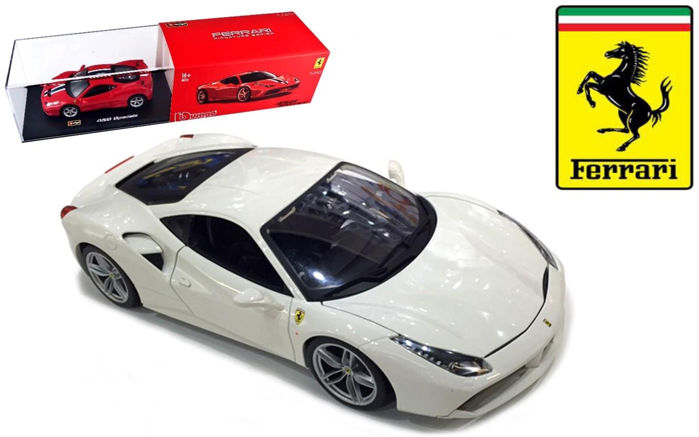 18-36904W  Ferrari 488 GTB, wit, Bburago