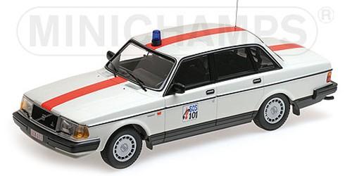 """155171492  Volvo 240 GL 1986, """"Politie België"""", Minichamps"""