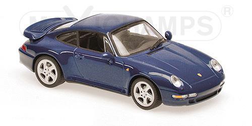 940069201  Porsche 911 Turbo S (993), 1997, blauw, Minichamps/Maxichamps
