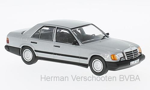 B66041036  Mercedes-Benz 300E 4MATIC W124 1985, zilver, Minichamps