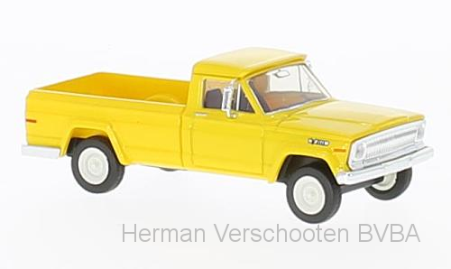 19805  Jeep Gladiator 1967, geel, Brekina