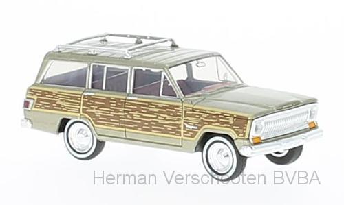 """19856  Jeep Wagoneer goud """"woody"""", Brekina"""