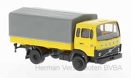 34750  Volvo F613 PP geel, Brekina