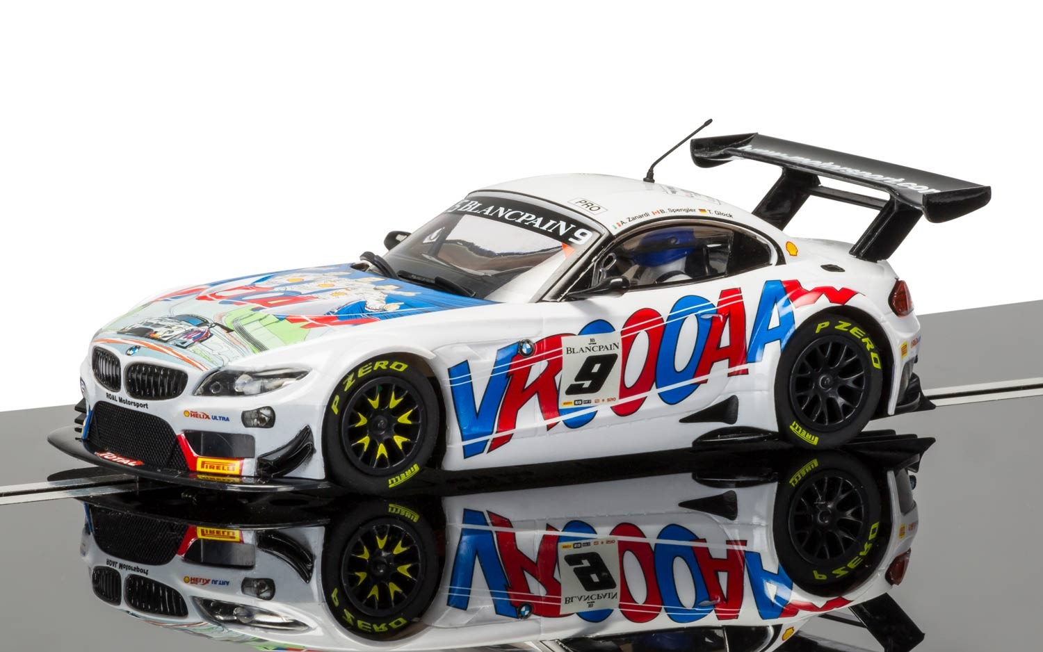 "3855    BMW Z4 GT3 ""2015 24 Hours of Spa, Roal Motorsport No.9"", Scalextric"