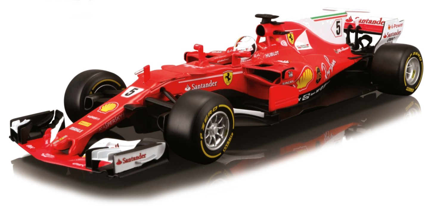 "18-16805  Ferrari F1 2017 ""Vettel/Räikkönen"", Bburago"