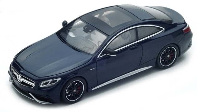S4918    Mercedes-Benz AMG S63 Coupé, donkerblauw, Spark