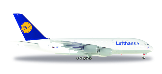 """550727-004  Airbus A380-800 """"Lufthansa (D-AIMJ Brussel)"""", Herpa Wings"""