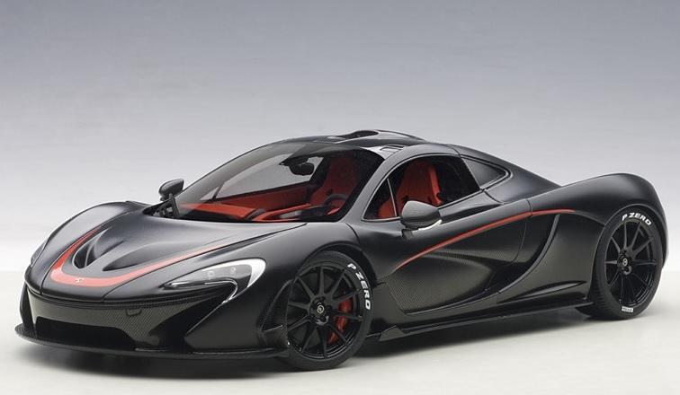 76027  McLaren P1 (mat zwart/rood), Auto Art