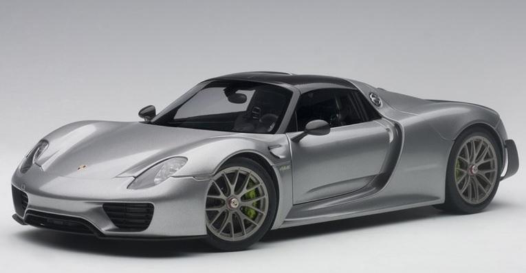 77925  Porsche 918 Spyder zilver met.), Auto Art