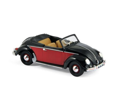 840021  Volkswagen Hebmüller 1949, zwart/rood, Norev
