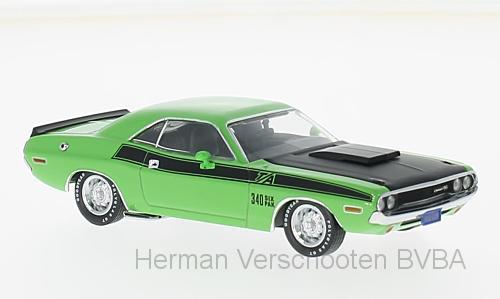 PRD407J  Dodge Challenger T/A 1970, groen, PremiumX