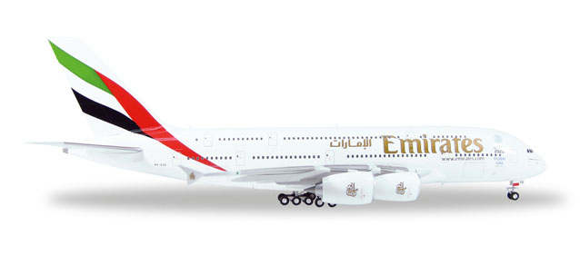 """555432-002  Airbus A380-800 """"Emirates"""", Herpa Wings"""