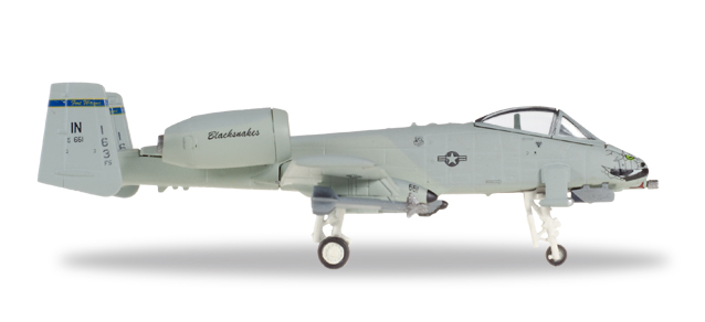 "558433  Fairchild A-10C Th. II ""USAF 163rd FS Blacksnakes"", Herpa Wings"