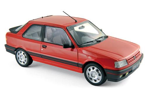 184880  Peugeot 309 GTi 1987, Vallelungarood, Norev