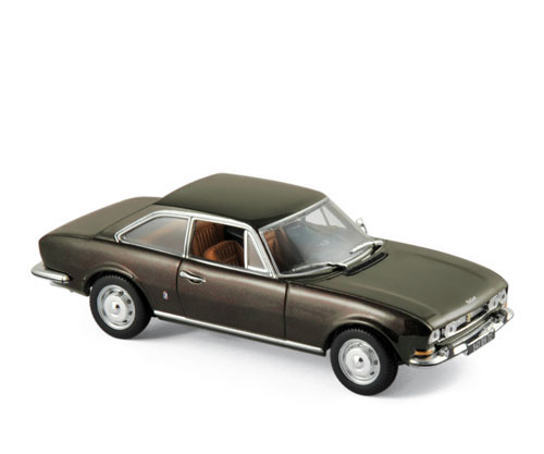 475433  Peugeot 504 Coupé 1969, met. bruin, Norev