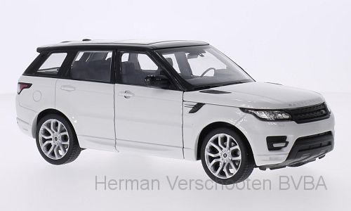 24059W    Range Rover Sport, wit/zwart, Welly
