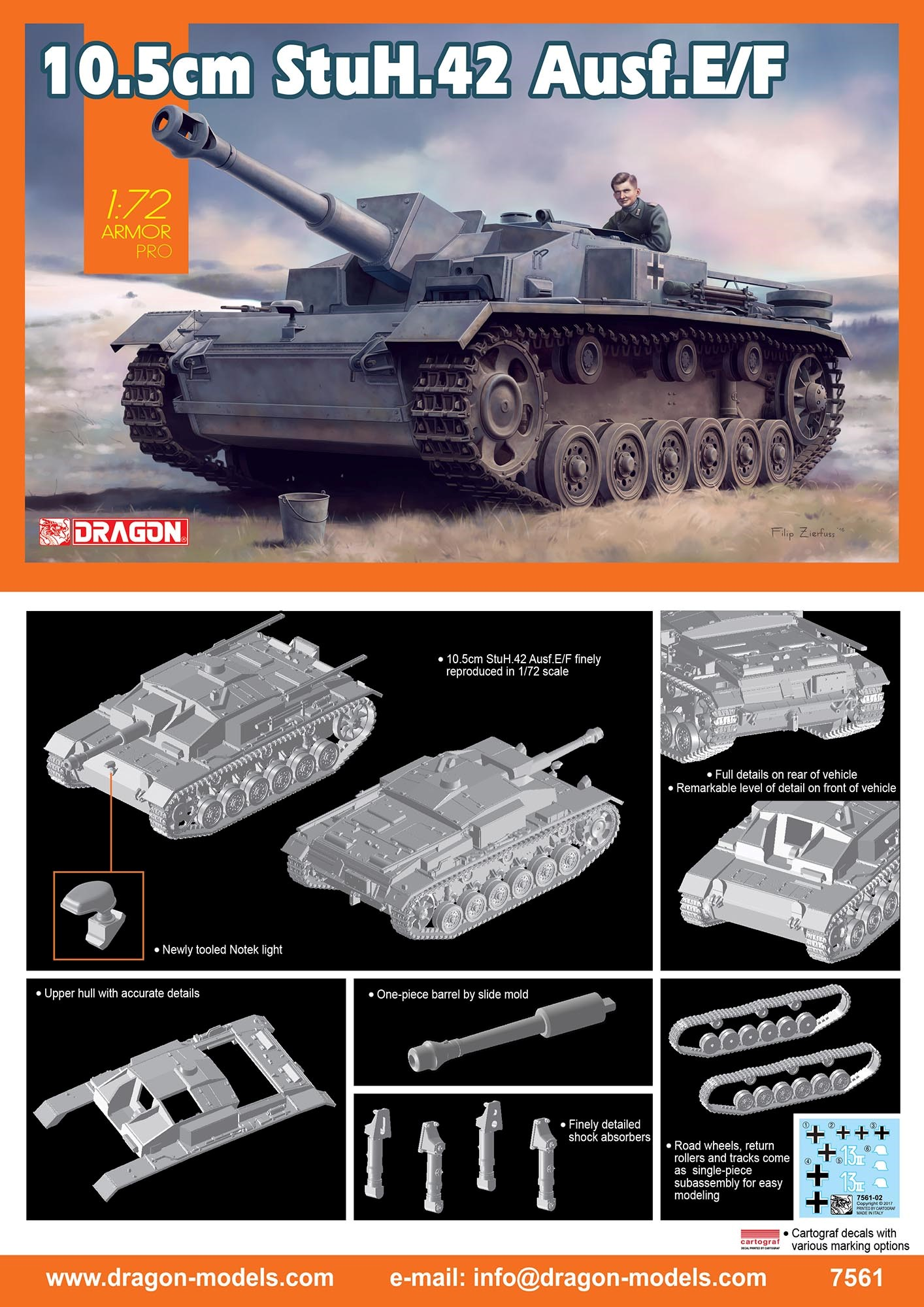 7561  10.5cm StuH.42 Ausf.E/F, Dragon
