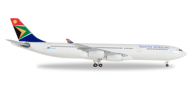 """530712  Airbus A340-300 """"South African Airways Nelson Mandela Day"""", Herpa Wings"""