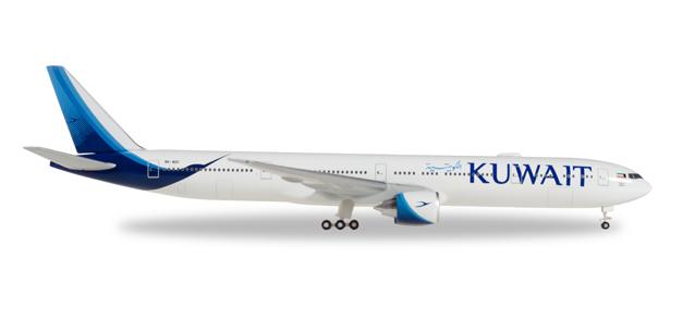 """530750  Boeing 777-300ER """"Kuwait Airways"""", Herpa Wings"""