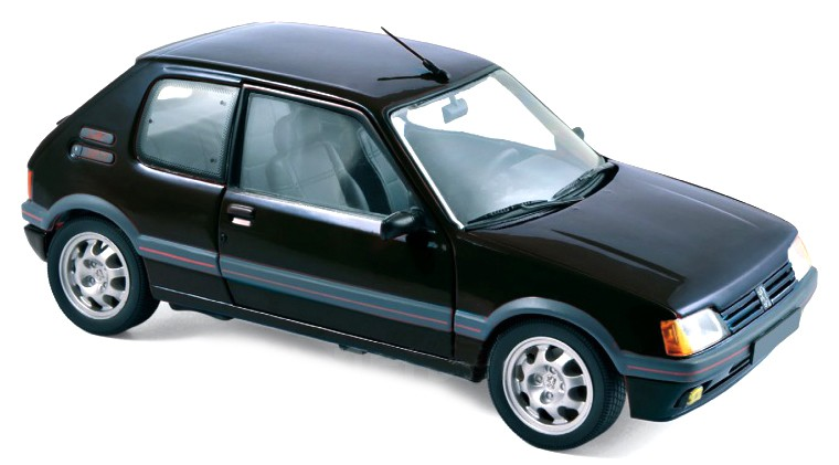 184854  Peugeot 205 GTi 1.9 1988, zwart, Norev
