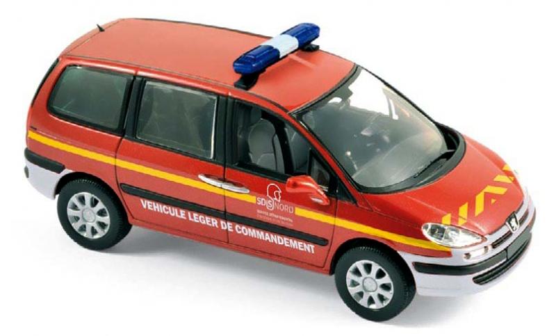 """478709  Peugeot 807 2013 """"Pompiers"""", Norev"""