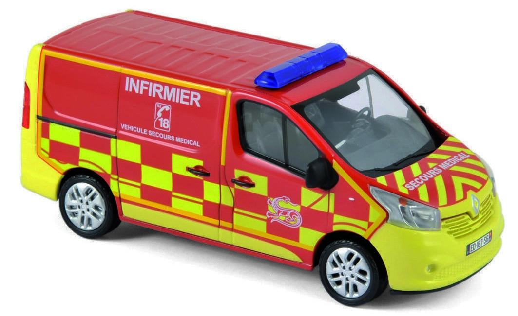 "518023  Renault Trafic 2014 ""Pompiers Infirmier"", Norev"
