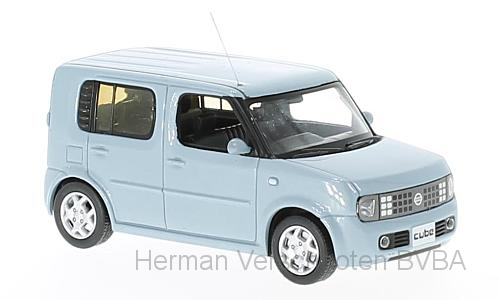 F43-086    Nissan Cube 2003, lichtblauw, First 1:43 Models