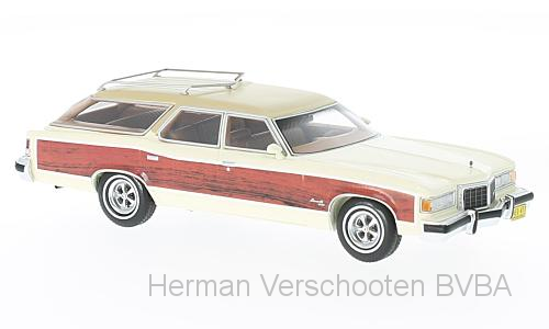 47100    Pontiac Wagon Grand Safari, wit/hout, Neoscale Models