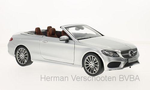 B66960612  Mercedes-Benz C-Klasse (A205) Cabriolet, zilver, Norev