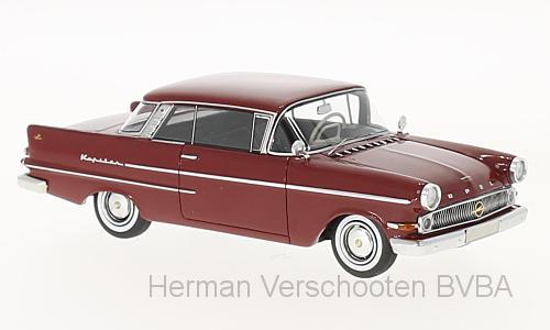 47030  Opel Kapitän P 2.6 Coupé Autenrieth, donkerrood, Neoscale Models