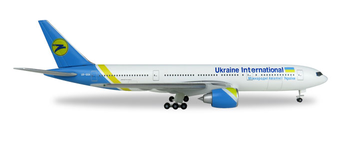 "531122    Boeing 777-200 ""Ukraine International"", Herpa Wings"