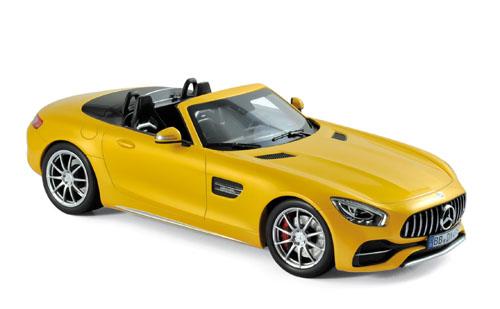 183451  Mercedes-Benz AMG GT C Roadster 2017, geel met., Norev