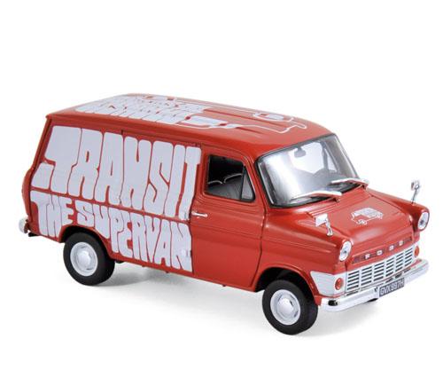 270521  Ford Transit 1965, rood, Norev