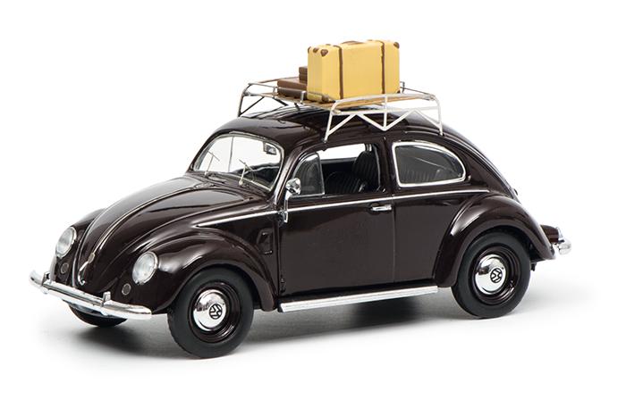 450256800  VW Kever (Bril), Sommer '51, rood, Schuco