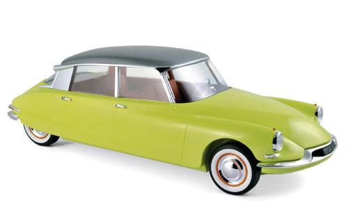 """121561  Citroën DS 19 1958 """"Jaune Jonquille & Gris Triennale métalisé"""", Norev"""