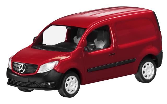 B66004123  Mercedes-Benz Citan bestelwagen, rood, Minichamps