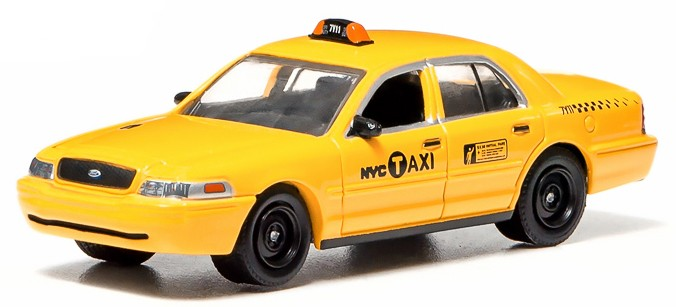"29773    Ford Crown Victoria ""New York Taxi"" 2011, Greenlight"