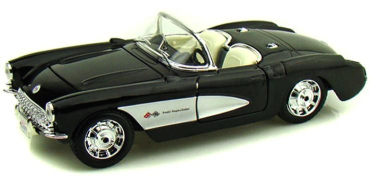 31139Z  1957 Chevrolet Corvette, zwart, Maisto