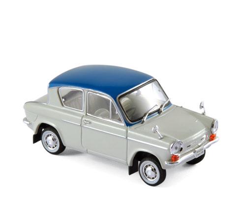 800631  Mazda Carol 360 1962, wit/blauw, Norev