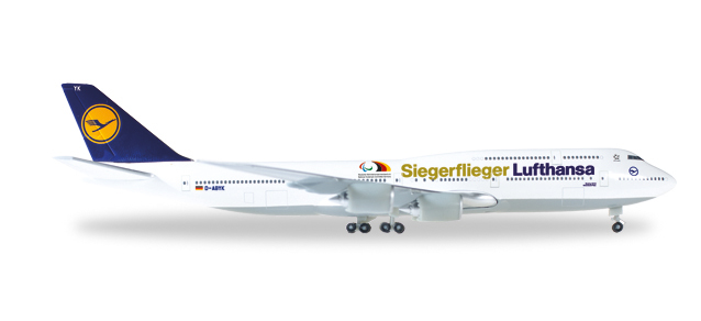 """530033  Boeing 747-8 I """"Lufthansa S.Fl. Paralympics Rio 2016"""", Herpa Wings"""