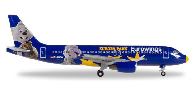 """530767  Airbus A320 """"Eurowings Europa-Park"""", Herpa Wings"""