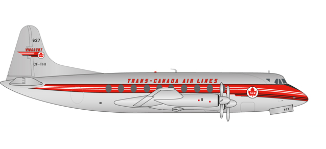 "558938    Vickers Viscount 700 ""Trans Canada Air Lines"", Herpa Wings"