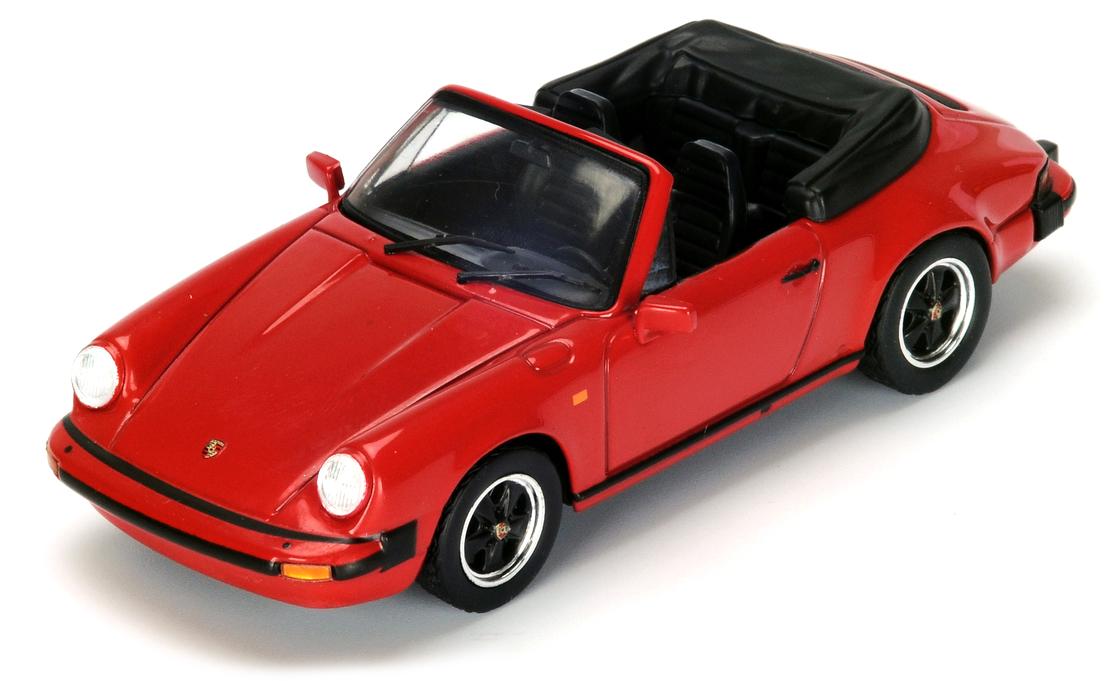 SDC005  Porsche 911 SC Cabriolet 1983, rood, Spark