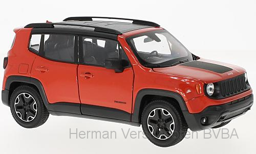 24071W    Jeep Renegade Trailhawk, oranje, Welly