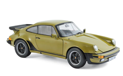 187575  Porsche 911 turbo 3.3 1977, Olijfgroen, Norev